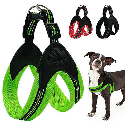 Breathable Reflective Padded Mesh Pet Dog Harness for Medium Dogs French Bulldog
