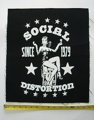 NEW SOCIAL DISTORTION 1979 GIANT14x16 INCH CANVAS PATCH FREE SAME DAY SHIPPING