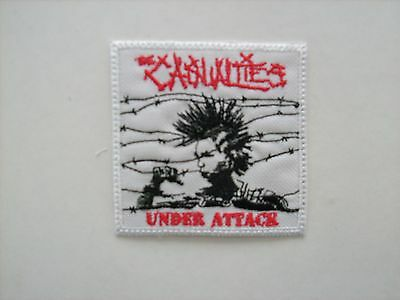 NEW PUNK THE CASUALTIES UNDER ATTACK 3.5 x 3.5 INCH PATCH FREE SAME DAY SHIPPING