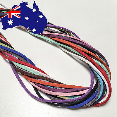 Leather Cord String Charms Soft Flat Rope Necklace Jewellery Craft Making DIY