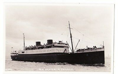 Early Post Card, Ships, M V Ulster Monarch,    RP