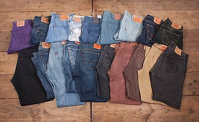 20 x Pairs Mens Womens Wholesale Vintage Levis Levi 501 GRADE A JEANS Job Lot L4