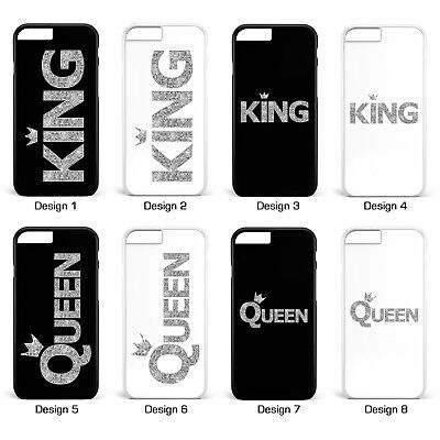 King & Queen Silber Pärchen Cover Handyhülle * iPhone 5 5S 6 6S Galaxy S5 S6 S7