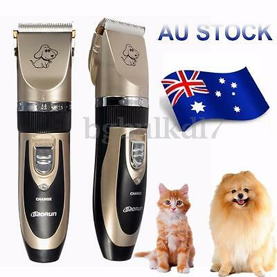 Electric Grooming Pet Cat Dog Puppy Fur Hair Trimmer Clipper Shaver Razor Kit AU