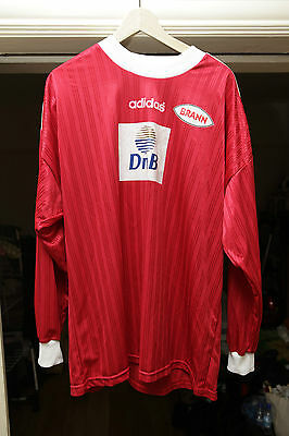 SK Brann Match Worn Football Shirt Norway Norveige UEFA Claus Eftevaag 1996-97