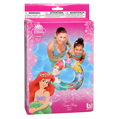 56 cm DISNEY PRINCESS INFLATABLE RUBBER SWIM RING HOLIDAY POOL KIDS WATER FUN