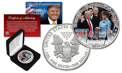 2017 DONALD TRUMP Offical President INAUGURATION 1 oz US .999 SILVER EAGLE w/BOX