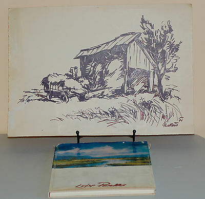 Lojze PERKO, Slovenian painter - ORIG Drawing and Book of Work!