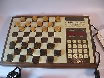Fidelity Checker Challenger Checkers Electronic Computer Board Game  model ACR
