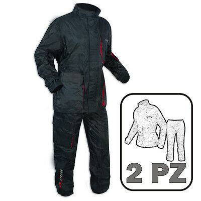 Motorbike Waterproof 2 pc Rain Suit Trousers Jacket Oversuit Motorbike All Sizes