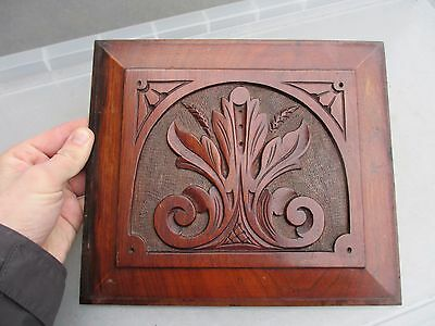 "Vintage Wooden Panel Plaque Bevelled Architectural Reclaim Wood Old   10"" x 9"""