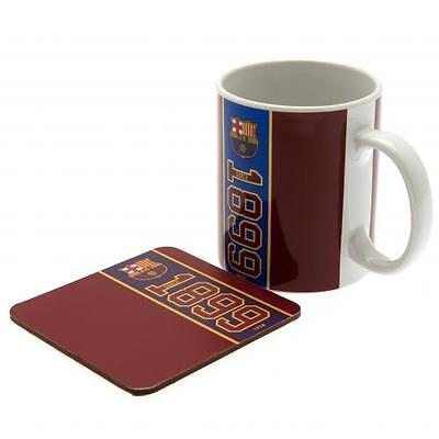 Official Licensed Football Product FC Barcelona Mug & Coaster Set Cup Coffee New