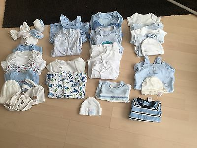 bundle of baby boys clothes new born 33 Items Ladybird/mothercare/m&s/ Free P+P