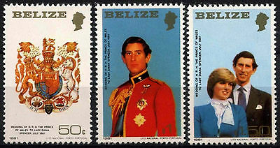 Belize 1981 SG#614-616 Royal Wedding MNH Small Size Set #D43281