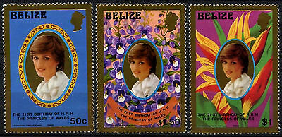 Belize 1982 SG#680-2 Princess Of Wales 21st Birthday MNH Gold Set #D43286