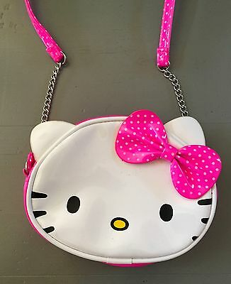 Cute HELLO KITTY H&M Girls Shoulder Bag With Zip Fastening Very Good Condition
