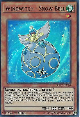 YU-GI-OH CARD: WINDWITCH - SNOW BELL - ULTRA RARE - RATE-EN008 - 1st EDITION