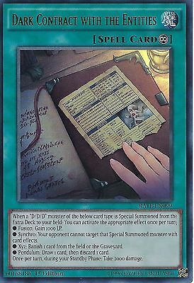 YU-GI-OH CARD: DARK CONTRACT WITH THE ENTITIES - ULTRA RARE - RATE-EN099 -1st ED