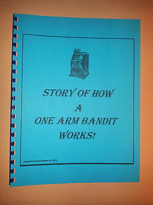 STORY OF HOW A ONE ARM BANDIT WORKS! 4 Page  SLOT MACHINE ANTIQUE SLOT REPO