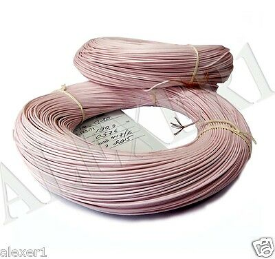 20m / 66 ft   24 AWG / 0.2mm²  Military Russian Teflon PTFE Wire MGTF