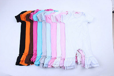 IN STOCK Wholesale Girls Icing Double Ruffle Romper Baseball Shirt Blank Shirt