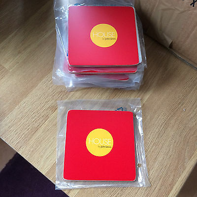 Wholesale 100 x House By John Lewis Red Coasters NEW Joblot