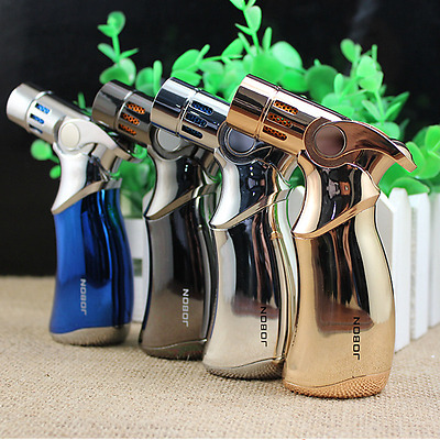 4 Pcs JOBON Four Torch Jet Flame  Windproof Refillable Cigarette Cigar Lighter