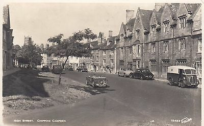 High Street, Chipping Campden, Glos, Real photo, old postcard, unposted