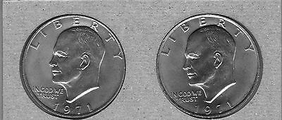 1971-P And 1971-D  Uncirculated  Eisenhower Dollars ( 2 Coin Lot )