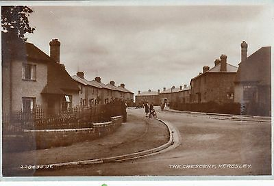 The Crescent, Keresley, Coventry, Real photo, old postcard, unposted