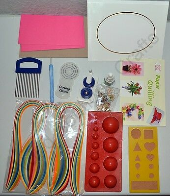 Paper Quilling Kit,Crimper,Slot,Comb,Dome mould mold,Board,Glue,Jewellery Making