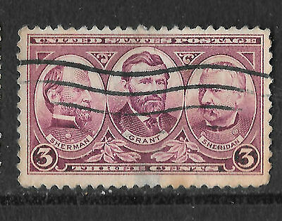 USA / United States SC# 787 SHERMAN GRANT SHERIDAN 3 CENT STAMP - see scan