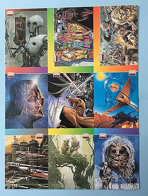 STAR WARS GALAXY I, uncut promo sheet - 1993.  Excellent condition