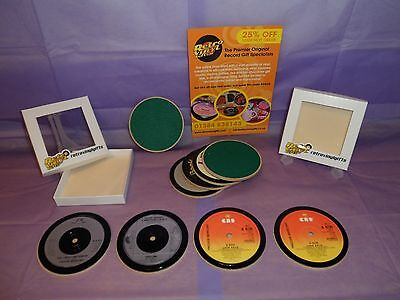 FREDDIE MERCURY Vinyl Record Drinks Coaster Original Vintage Fab NEW TITLES