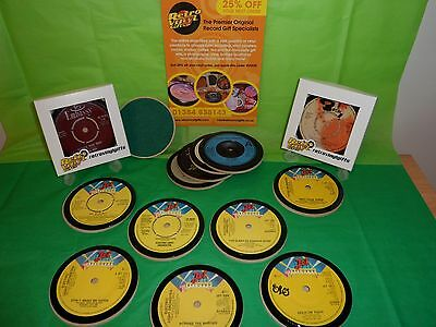 ELECTRIC LIGHT ORCHESTRA (E.L.O.) Vinyl Record Drinks Coaster Original Vintage