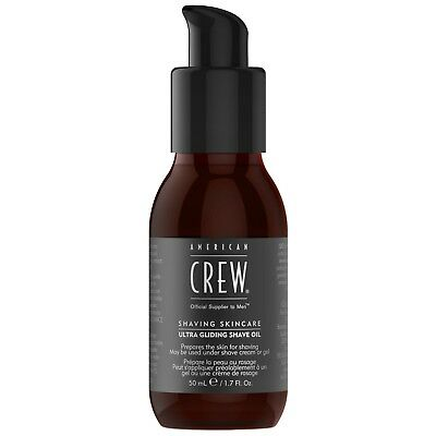 NEW American Crew Shave Ultra Gliding Oil 50ml for men