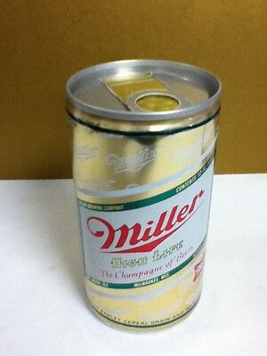 "Miller high life beer old rare aluminum pull tab can 12 oz. Milwaukee  4.75""  X6"