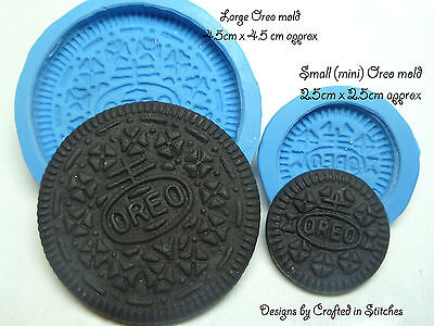 Oreo mold cookie silicone mold biscuite craft  fimo sculpey clay resin plaster