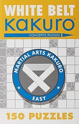 White Belt Kakuro by Conceptis Puzzles Paperback New  Book