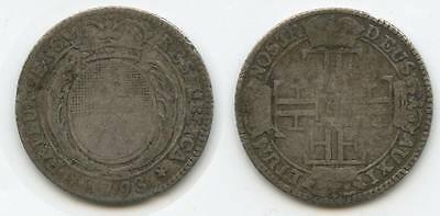 G3383 - Schweiz Freiburg 14 Kreuzer 1793 (1/4 Gulden) RAR Swiss Switzerland
