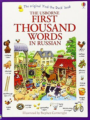 First Thousand Words in Russian by Amery  Heather Paperback New  Book