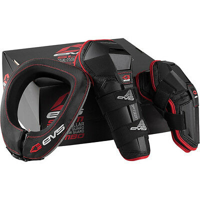 EVS Slam 2 Youth Protector Combo Junior Knee Elbow Guards Neck Armour Set Brace