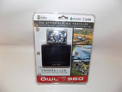 The Owl 360 LCX3600 Rear Facing Camera & LCD Monitor Cyclists Safety System Bike