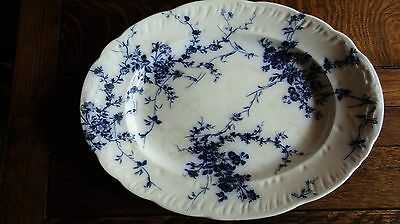 Blue & White Very Large Oval Booths Princess Serving Platter Plate Dish Bowl