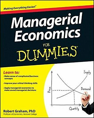 Managerial Economics For Dummies by Graham  Robert J. Paperback New  Book
