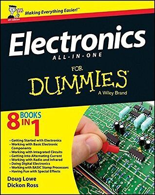 Electronics All-In-One for Dummies  UK Edition by Dickon Ross New Paperback Book