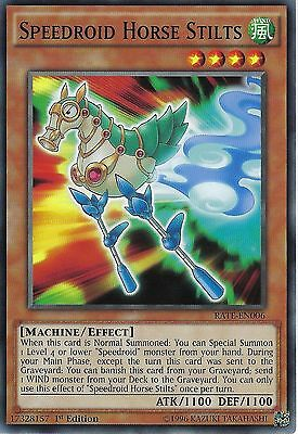 3 X YU-GI-OH CARD: SPEEDROID HORSE STILTS - RATE-EN006 - 1st EDITION