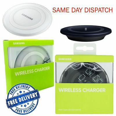 New Samsung Galaxy S6 S7 Edge Qi Wireless Charger Charging Pad Plate Black White