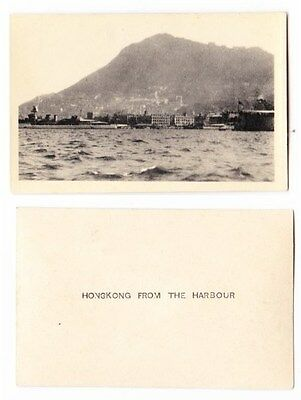 Early Photo  China, Hong Kong, From The Harbour, 1930 RP
