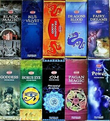 20 - 200 Sticks Incense CHOOSE SCENT / MIXED Bulk Pack Lot HEM HEX Wicca Insence